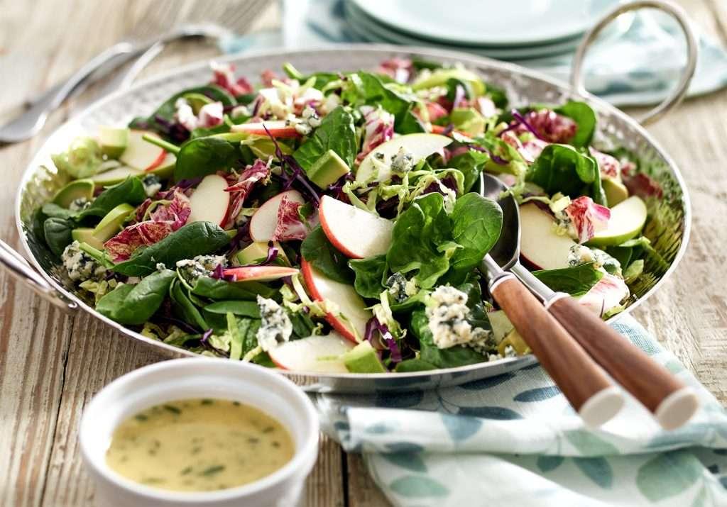 Detox Apple Salad setting in serving salad bowl